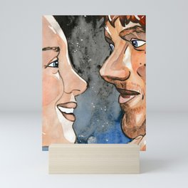 Claire and Jamie re-united Mini Art Print