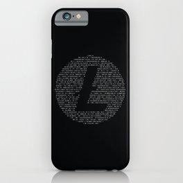 Litecoin Binary iPhone Case