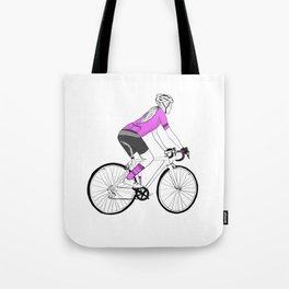 Girl Cyclist Tote Bag