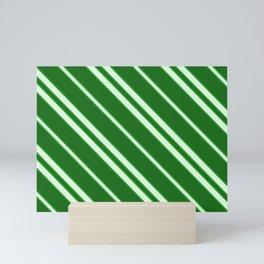 Modern Abstract Stripes - Green - Matching Set 2 of 2 Mini Art Print