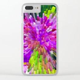 Violet Burst Clear iPhone Case
