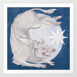 White boar Art Print