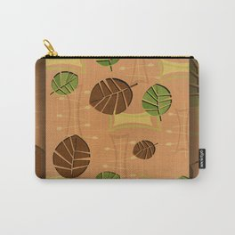Tiki Bar Wallpaper Pattern Carry-All Pouch