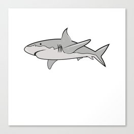 Watch Out I Turned Five 5th Birthday Present Shark T-Shirt Canvas Print