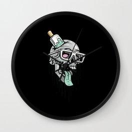 Comic - Skull Cool Fun - dark Wall Clock