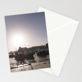 Sunrise over Newquay harbour Stationery Cards
