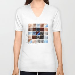 Color Chart - Burnt Sienna (DS) and Cerulean Blue (DS) Unisex V-Neck
