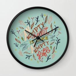 An Empty Heart Is Like An Empty Life Wall Clock