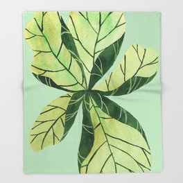 Leaf flower Throw Blanket