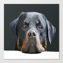 Rottweiler Portrait Vector Canvas Print