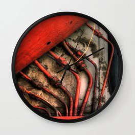 Red Ray of God Wall Clock