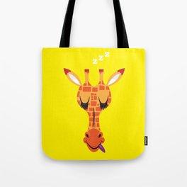 Sleepy Giraffe Tote Bag