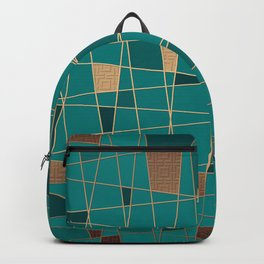 Abstract geometric pattern 11 Backpack