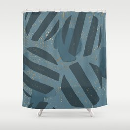 Blueprint and  Watercolor Texture 4 Shower Curtain