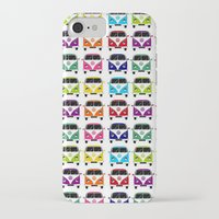 vw iPhone & iPod Cases featuring VW Campervan by chauloom