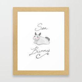 Sea Bunny Framed Art Print