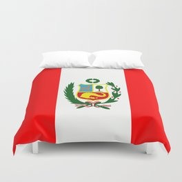 Flag of Peru Duvet Cover