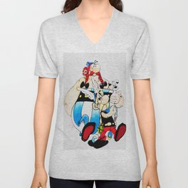 asterix and obelix Unisex V-Neck