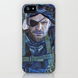 Solid Snake is a video game character and one of the primary protagonists of the Metal Gear series c iPhone Case