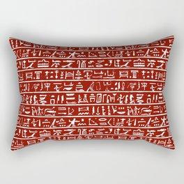 Egyptian Hieroglyphics // Burgundy Rectangular Pillow