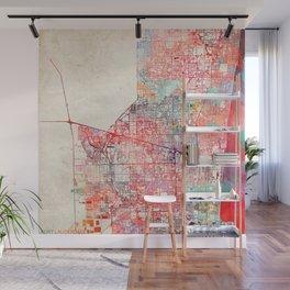Fort Lauderdale map Florida painting Wall Mural