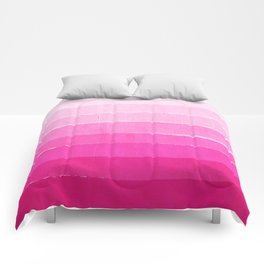 Luca - Ombre Brushstroke, pink girly trend art print and phone case for young trendy girls Comforters