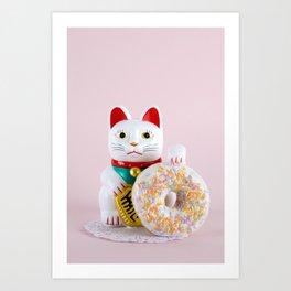 Maneki Donut Art Print