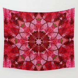 Cranberrybush Viburnum mandala Wall Tapestry