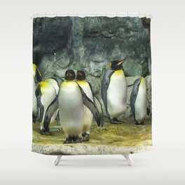 Group of Penguins Shower Curtain