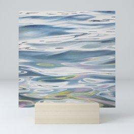 Radiant 2 - lake water painting Mini Art Print