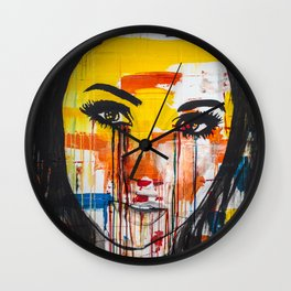 The unseen emotions of her innocence Wall Clock