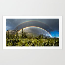 Double Rainbow in Jasper Art Print