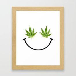 Weed Smile Framed Art Print