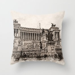Altar of the Fatherland, Rome Throw Pillow
