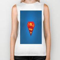 superhero Biker Tanks featuring SUPERHERO by Acus