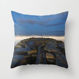 Cloudy Horizon Throw Pillow