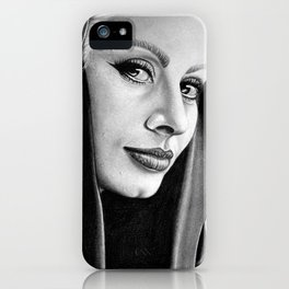 Sophia Loren Drawing By Faten  iPhone Case