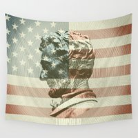 lincoln Wall Tapestries featuring Lincoln by Gusvili