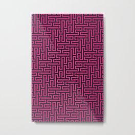 Pink labyrinth Pattern Metal Print