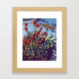 Oliver's Garden Framed Art Print