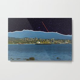 Stars in Vancouver Harbor Metal Print
