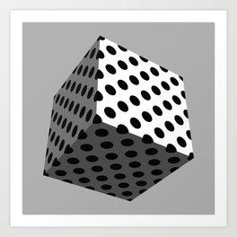 All Boxed Up - 3D Art Black & White Art Print