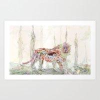 Nature In Technicolor - Lion Art Print