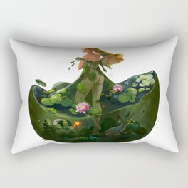 Naiad with Pond Dress Rectangular Pillow
