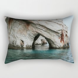 The Blue Caves | Colourful Travel Photography | Zakynthos, Greece (Zante) Rectangular Pillow