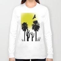 desert Long Sleeve T-shirts featuring desert by Bamse