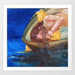Aloha series Girl in a Boat Art Print