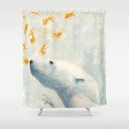 Try not to breath Shower Curtain