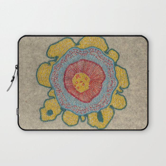 57115c1cd269a Growing - Pinus 1 - plant cell embroidery Laptop Sleeve by vrijformaat