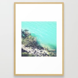 Turquoise Water Photo Framed Art Print